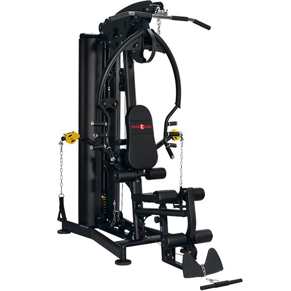 康强 综合训练器BK179多功能轻商用组合健身器材铸铁配重小飞鸟健身器材 BK179黑色90公斤铸铁配重