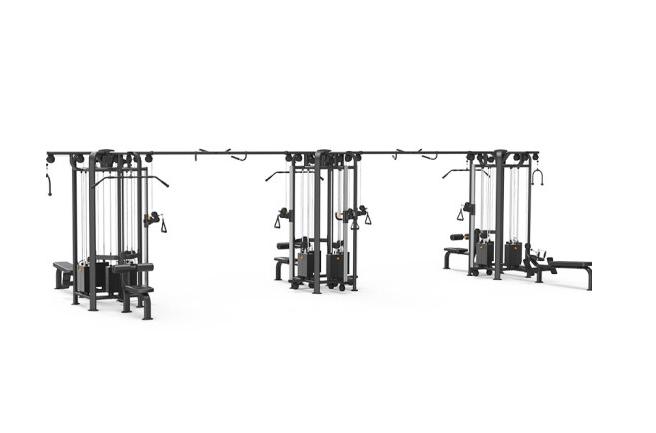 康强四方位多功能训练架360综合训练器健身房专用 9028D十二方位训练架
