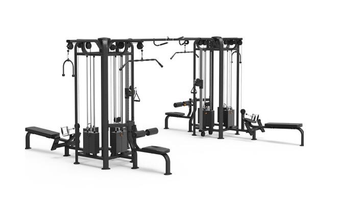康强四方位多功能训练架360综合训练器健身房专用 9028C八方位训练架