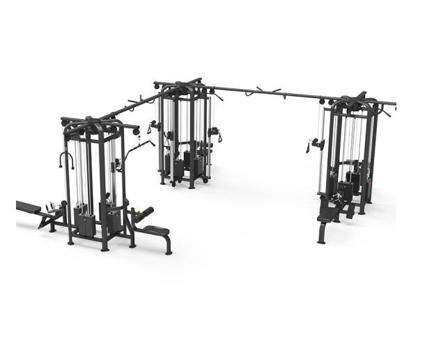 康强四方位多功能训练架360综合训练器健身房专用 9028E十二方位V型训练架
