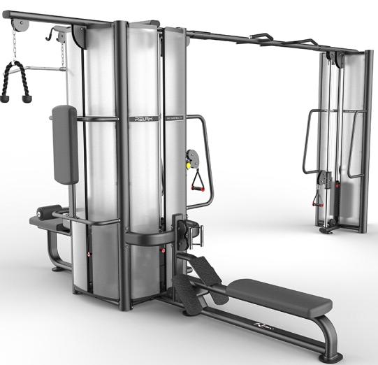 澳沃OURSLIF 五人站拉力综合训练器PC1002 商用健身房专用综合训练器自由力量健身器材 送货安装