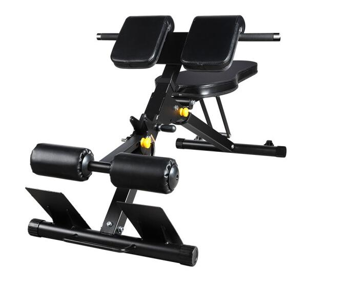 澳沃OURSLIFE罗马椅3016山羊挺身健身器材仰卧起坐多功能家用哑铃凳 罗马椅+60KG片+1.2M曲杆