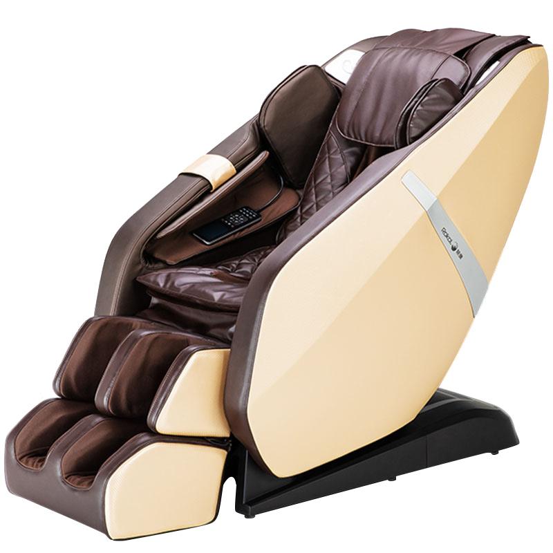 荣康(Rongkang)RK-1903按摩椅家用小型全身多功能电动揉捏太空舱沙发按摩器 赛道棕