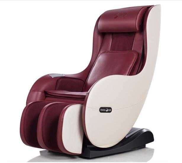 荣康(Rongkang)按摩椅家用多功能智能小型按摩椅RK-1900A全自动按摩仪电动按摩沙发椅子 酒红色