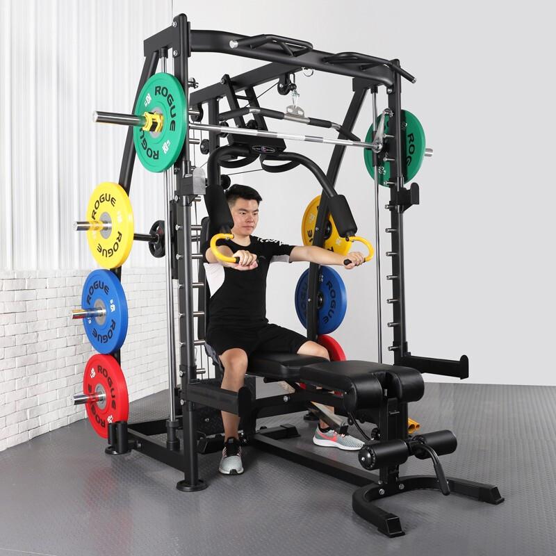 康强 史密斯机BK3010龙门架组合健身器深蹲架举重床卧举床引体向上力量综合训练器材