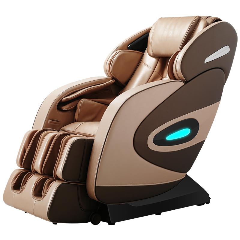 荣康按摩椅X8家用全身豪华多功能太空舱全自动电动按摩椅沙发椅 香槟金
