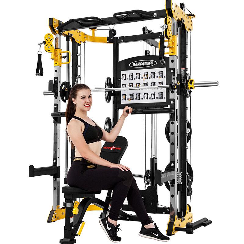康强BK507史密斯机移动飞鸟综合训练器健身器材龙门架举重床深蹲卧推杠铃架 BK507升级配置