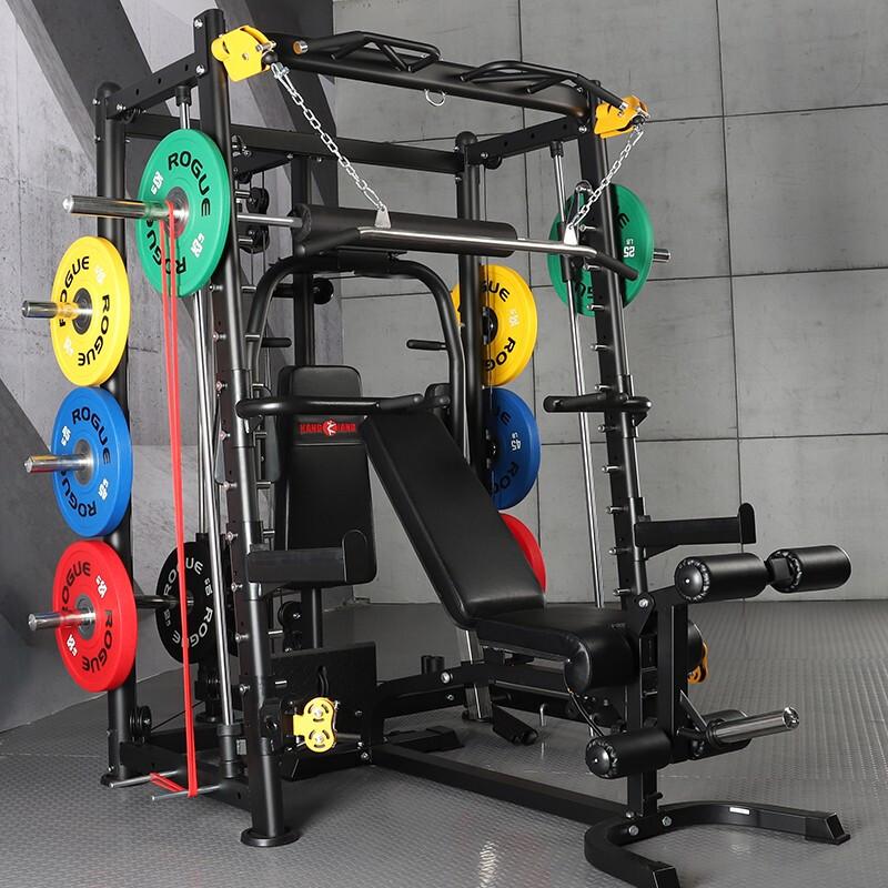康强BK-3000E全新升级史密斯机龙门架深蹲架卧举床小飞鸟训练器综合训练器健身器材 3000E升级配置