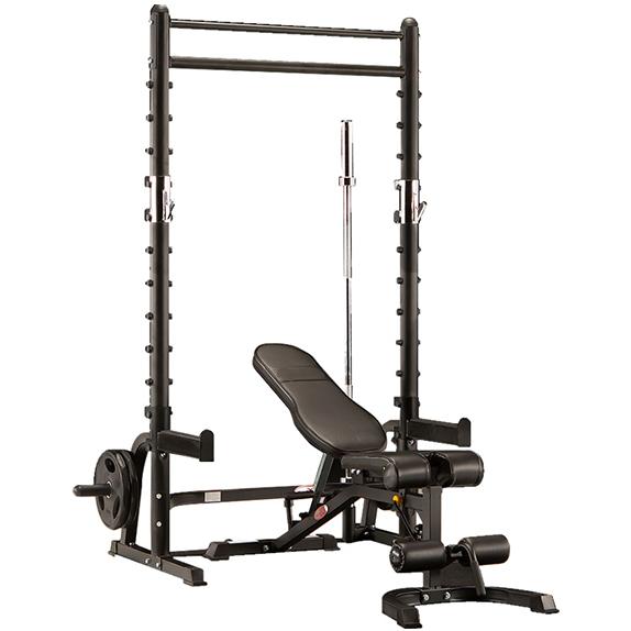 康强BK-3003龙门架深蹲架卧推架综合训练器健身器材 BK3003出口版裸机