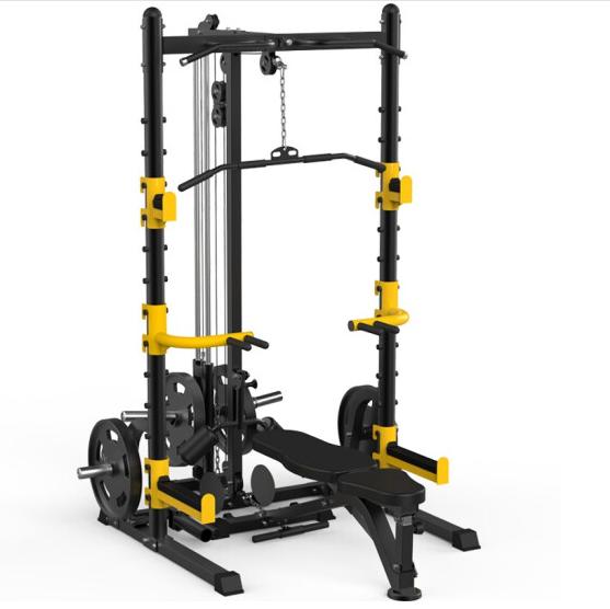 康强多功能单人站G305 综合训练器 深蹲架龙门架高低拉力量家用健身器材 裸机
