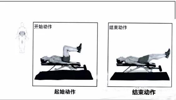 仰卧腿部伸展练习